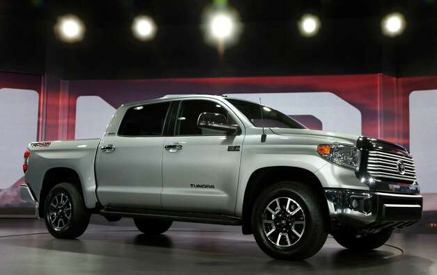 The redesigned 2014 Toyota Tundra is unveiled at the Chicago Auto Show Thursday, Feb. 7, 2013. Photo: Charles Rex Arbogast, Associated Press / AP