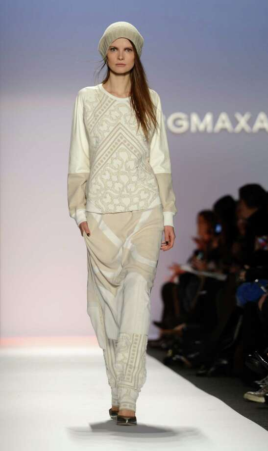 A model wears designs by BCBGMaxAzria during the Mercedes-Benz Fashion Week Fall 2013 collections on Feb. 7 in New York City. Photo: STAN HONDA, AFP/Getty Images / AFP