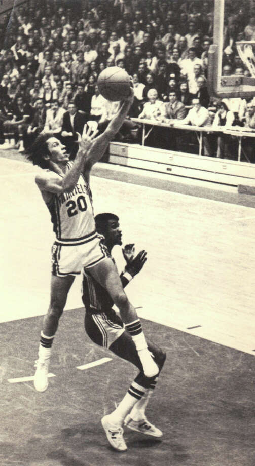 Fairfield University's John Ryan pictured during a Stags' game in 1974. Photo: Contributed Photo