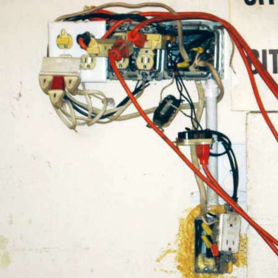 Hard pressed to believe even a master electrician could sort this out. Photo via i-nspect.com.