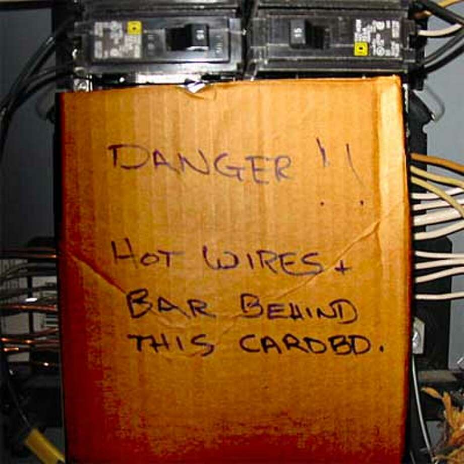 Oh, perfect fix. What could go wrong? Photo via This Old House blog.