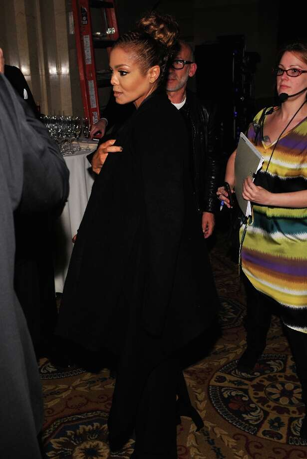Janet Jackson attends the amfAR New York Gala to kick off Fall 2013 Fashion Week at Cipriani Wall Street on February 6, 2013 in New York City. Photo: Bryan Bedder, Getty Images For FIJI Water / 2013 Getty Images