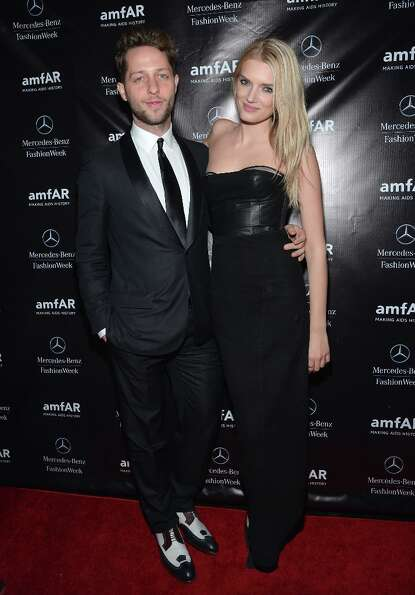 Fashion writer Derek Blasberg and model Lily Donaldson attend the amfAR Gala after party in celebrat