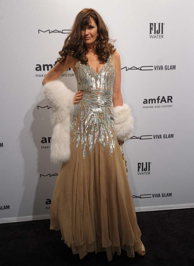 Carol Alt arrives at the amfAR (The Foundation for AIDS Research) gala that kicks off the Mercedes-Benz Fashion Week February 6, 2013 in New York. Photo: STAN HONDA, AFP/Getty Images / AFP