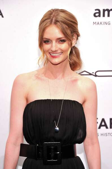 Lydia Hearst-Shaw attends the amfAR New York Gala to kick off Fall 2013 Fashion Week at Cipriani Wal