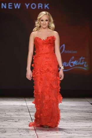Gymnast Nastia Liukin walks the runway. Photo: Frazer Harrison, Getty / 2013 Getty Images