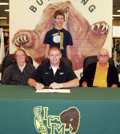 Little Cypress-Mauriceville offensive lineman signed a letter of intent with Texas Lutheran on Wednesday, Feb. 6, 2013. Photo: Courtesy Of Sherry Combs
