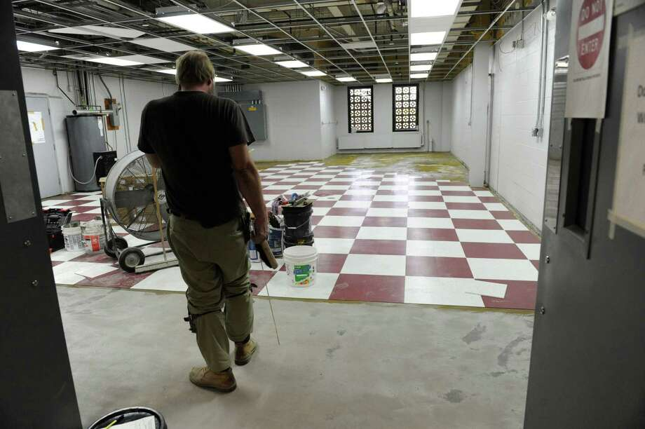 A new floor is put down in a room near the new press at the Times Union on Friday Dec. 7, 2012 in Colonie, N.Y.  (Lori Van Buren / Times Union) Photo: Lori Van Buren