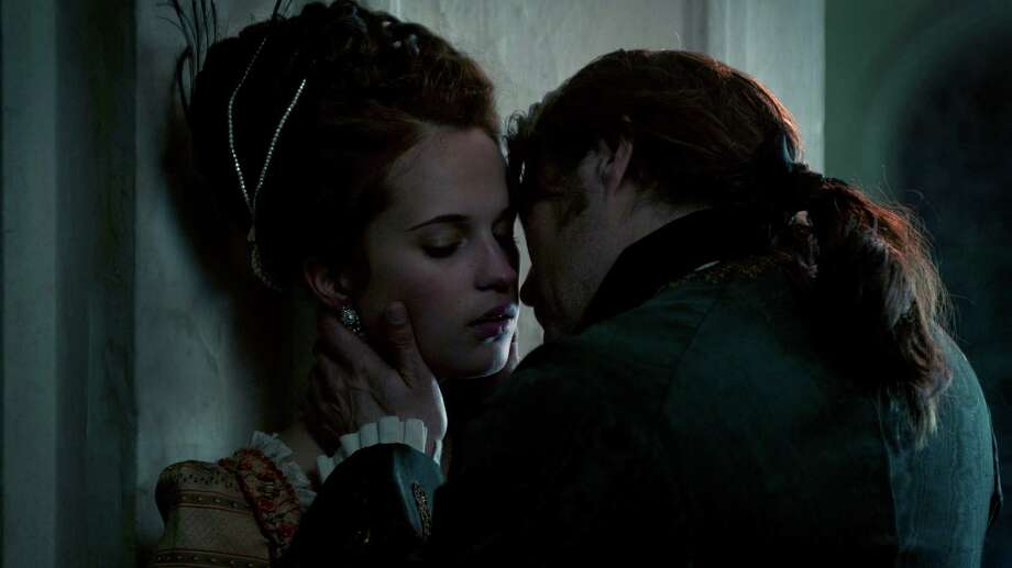 "Queen Caroline (Alicia Vikander) finds herself attracted to Johann (Mads Mikkelsen), the king's doctor, in ""A Royal Affair."" Photo: Handout / ONLINE_YES"