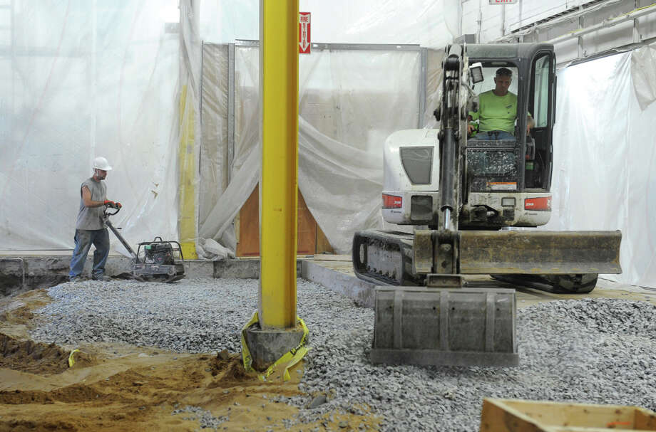 Construction continues for the new pressroom  on Tuesday, July 31, 2012 in Colonie, N.Y. (Lori Van Buren / Times Union) Photo: Lori Van Buren / 00018666A