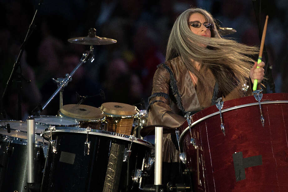 Dame Evelyn Glennie performs during the opening ceremony for the 2012 London Olympics on Friday, July 27, 2012. Photo: Smiley N. Pool, Houston Chronicle / © 2012  Houston Chronicle