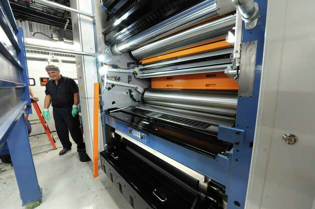 The new printing press at the Times Union on Tuesday Jan. 29, 2013 in Colonie, N.Y.  (Lori Van Buren / Times Union) Photo: Lori Van Buren