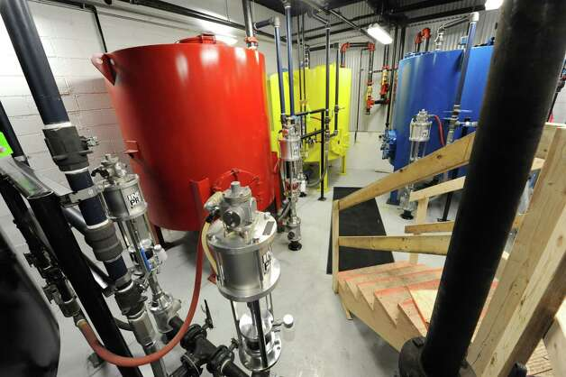 Ink tanks next to the new printing press at the Times Union on Tuesday Jan. 29, 2013 in Colonie, N.Y.  (Lori Van Buren / Times Union) Photo: Lori Van Buren