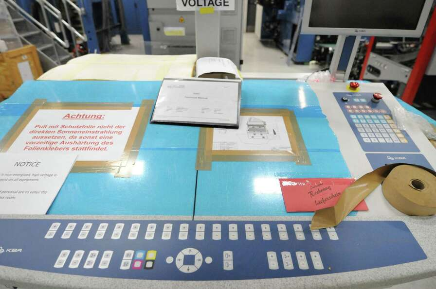 Control panels for the Times Union?s new KBA press Wednesday Jan. 23, 2013. (Will Waldron /Times Uni