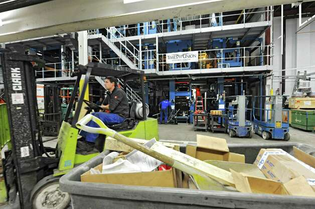 Progress is being made on the assembly of the new press at the Times Union on Wednesday Dec. 19, 2012 in Albany, N.Y. (Lori Van Buren / Times Union) Photo: Lori Van Buren