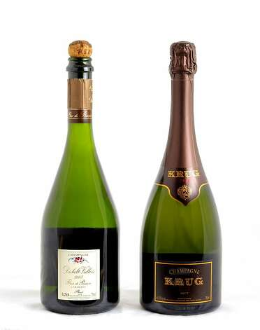 Left-right: 2005 Diebolt-Vallois Fleur de Passion, 2000 Krug as seen in San Francisco, California on Wednesday, February 6, 2013. Photo: Craig Lee, Special To The Chronicle