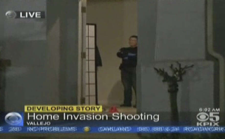 Three residents were shot during a home invasion robbery in a quiet Vallejo neighborhood. Photo: CBS San Francisco