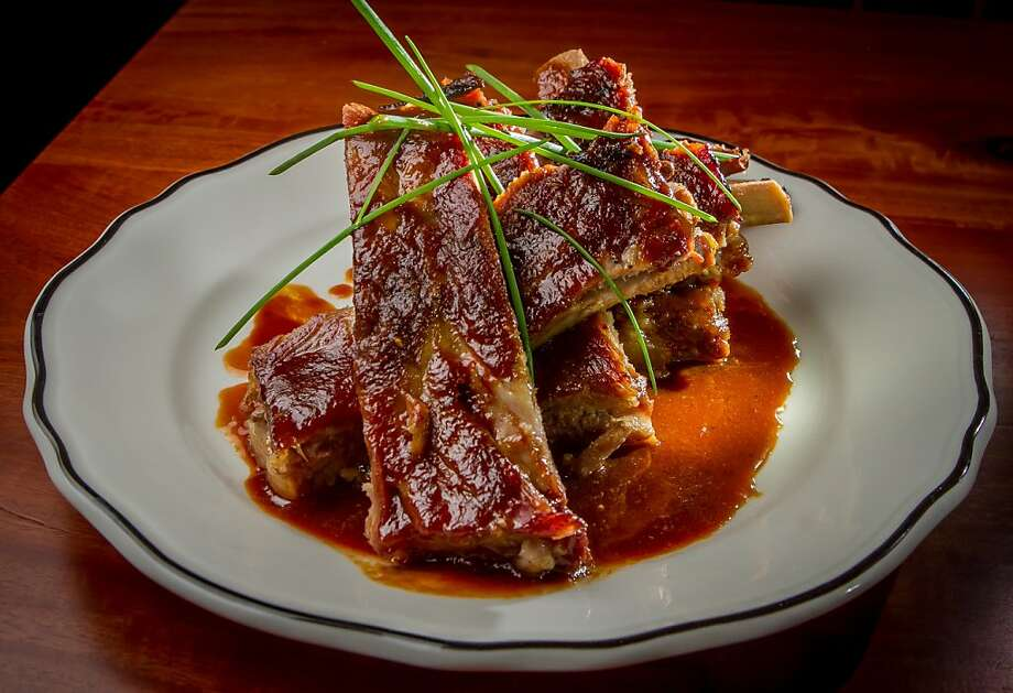 The dry-rubbed St. Louis- style pork ribs are very tender at Bull Valley Roadhouse in Port Costa. Photo: John Storey, Special To The Chronicle