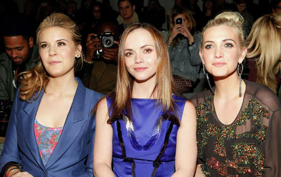 Maggie Grace, from left, Christina Ricci and Ashlee Simpson attend the Richard Chai Fall 2013 fashion show during Mercedes-Benz Fashion Week at The Stage at Lincoln Center on Thursday, Feb. 7, 2013 in New York. (Photo by Amy Sussman/Invision/AP) Photo: Amy Sussman, Associated Press / Invision