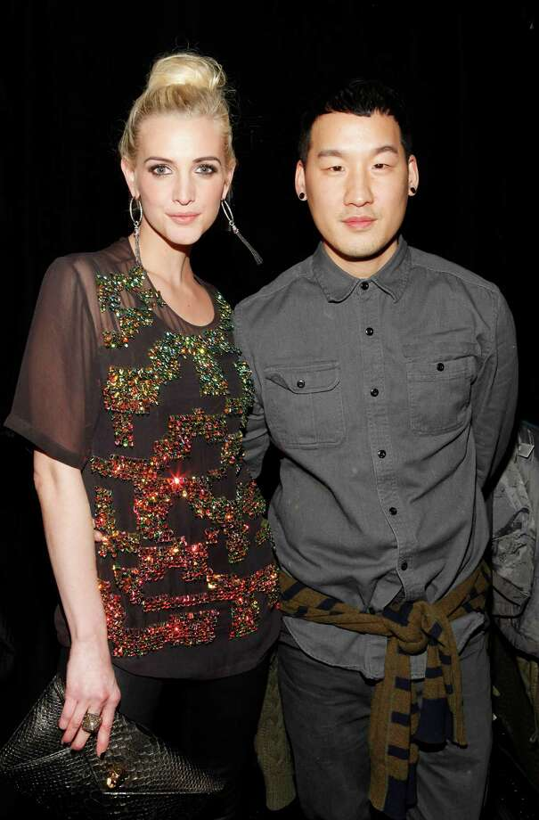 Ashlee Simpson, left, and designer Richard Chai pose at the Richard Chai Fall 2013 fashion show during Mercedes-Benz Fashion Week at The Stage at Lincoln Center on Thursday, Feb. 7, 2013 in New York City. (Photo by Amy Sussman/Invision/AP) Photo: Amy Sussman, Associated Press / Invision