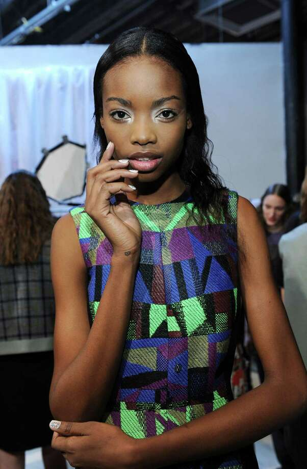 Models pose backstage at the Creatures of the Wind fall 2013 fashion show during Mercedes-Benz Fashion Week at Eyebeam on February 7, 2013 in New York City. Photo: Craig Barritt, Getty Images / 2013 Getty Images