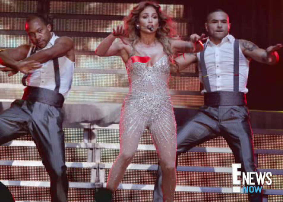 Lopez reportedly did some tricky dance moves (says E! News Online) and exposed her nipple to thousands of concertgoers.