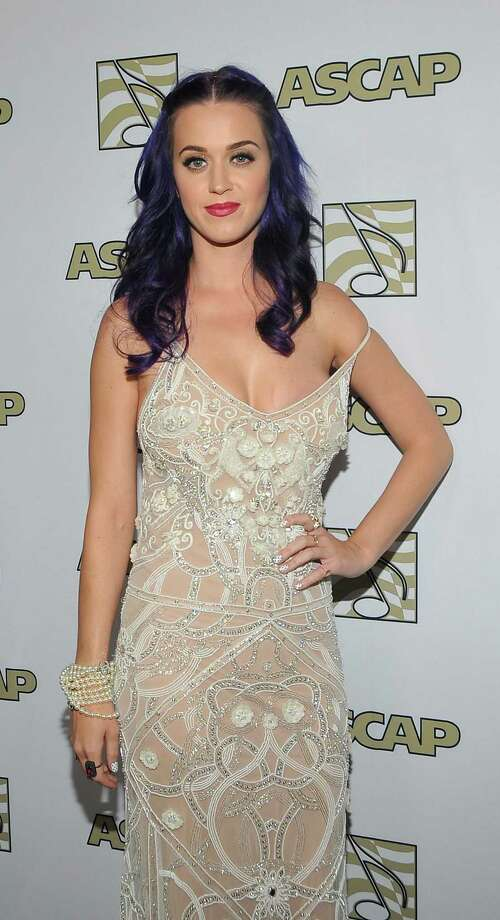 Singer Katy Perry in a dress that seems too big at the 2012 ASCAP POP Music Awards on April 18.  Photo: John M. Heller, Getty Images / 2012 Getty Images