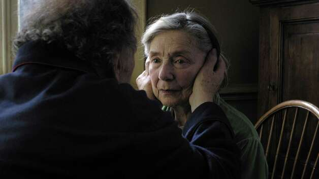 Left to Right: Jean-Louis Trintignant as Georges and Emmanuelle Riva as Anne Photo by Darius Khondji, (c) Films du Losange, Courtesy of Sony Pictures Classics