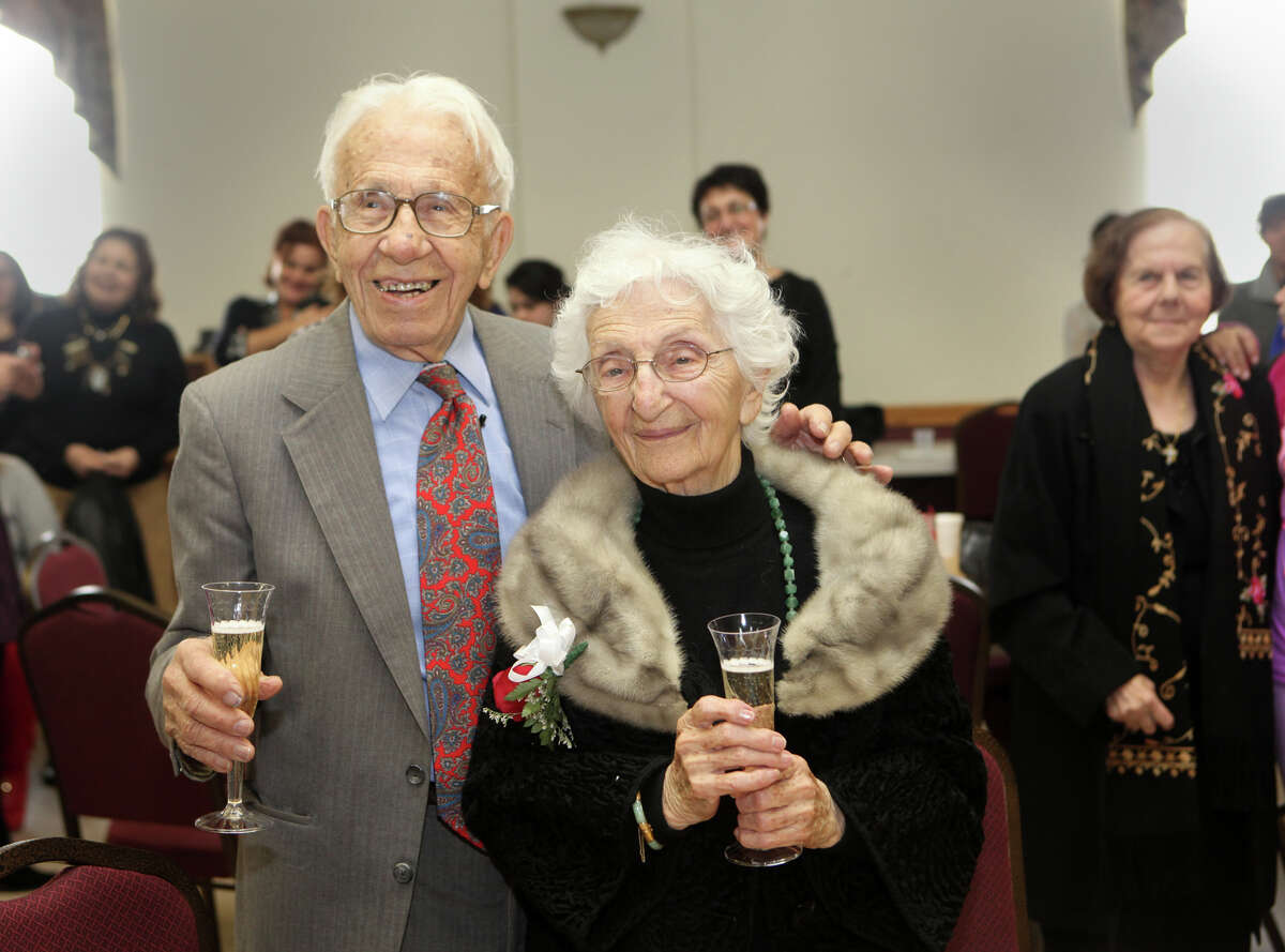 John and Ann Betar, of Fairfield, celebrate their 80th anniversary at St. Nicholas Antiochian Orthodox Church, in Bridgeport, Conn. on Sunday, November 25, 2012. The Fairfield couple have been named the 2013