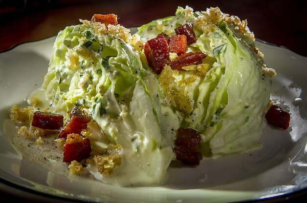 Among the offerings: the wedge salad. Photo: John Storey, Special To The Chronicle