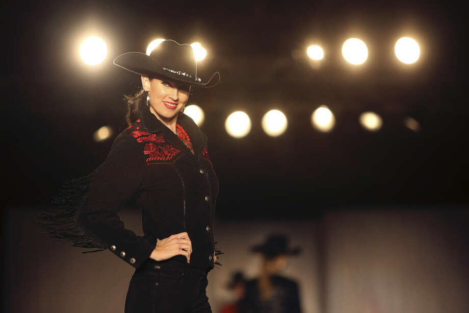 With its hat trimmed in bling and sassy fringe, this embellished outfit from Julian Gold captures the spirit of the San Antonio Stock Show & Rodeo. Photo: Photos By Lisa Krantz / San Antonio Express-News