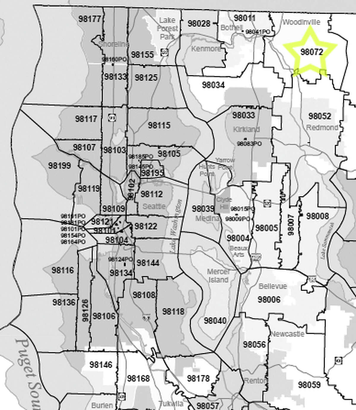 15. 98072: In this Woodinville-area ZIP code, 2.1 percent of households received food stamps.