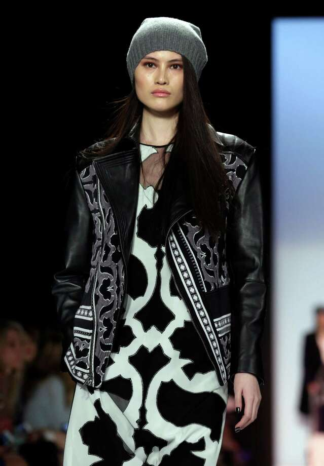 Berets are back at BCBG Max Azria. Photo: Richard Drew, STF / AP