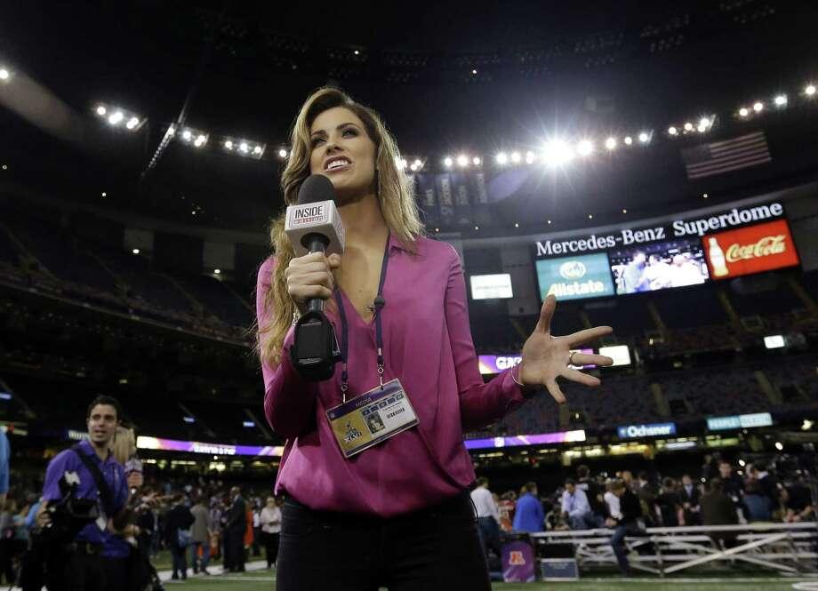 """Inside Edition"" reporter Katherine Webb epitomizes the stereotype of women who work in sports media.  Photo: Pat Semansky, Associated Press"