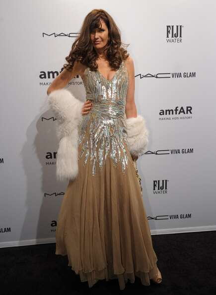 Carol Alt arrives at the amfAR (The Foundation for AIDS Research) gala that kicks off the Mercedes-B