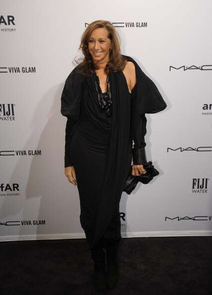 Designer Donna Karan arrives at the amfAR (The Foundation for AIDS Research) gala that kicks off the