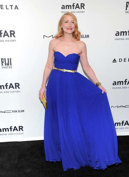 Actress Patricia Clarkson attends amfAR's New York gala at Cipriani Wall Street on Wednesday, Feb. 6