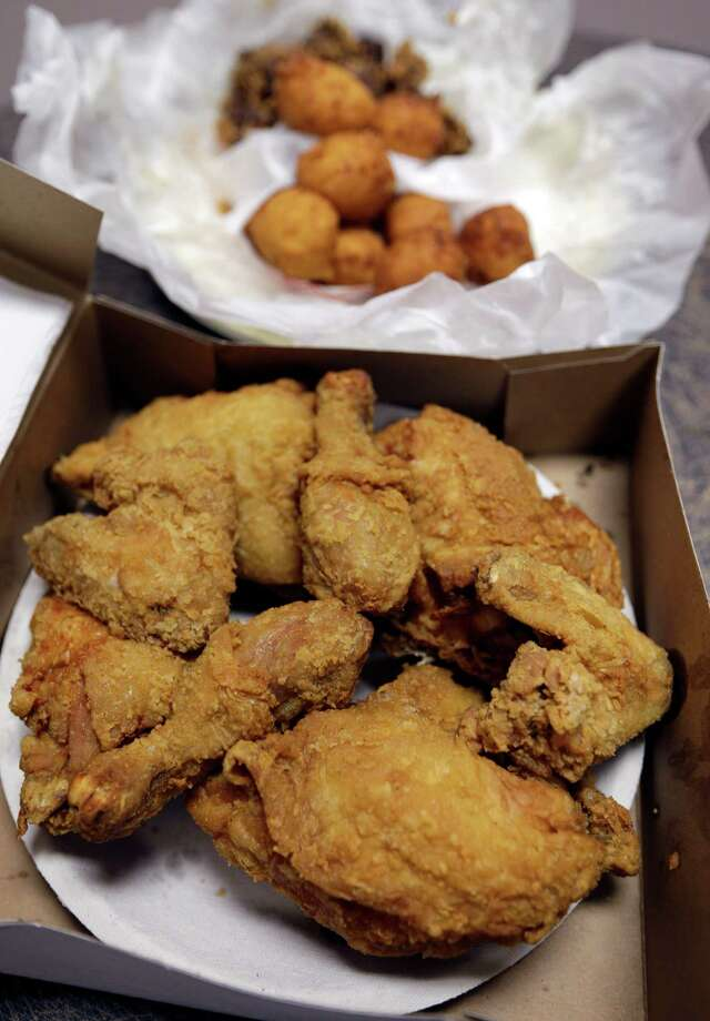 Fried chicken and hush puppies - two staples of the Southern comfort diet. While popular, a new study links this type of diet to an increased risk for stroke. Photo: Chuck Burton, STF / AP