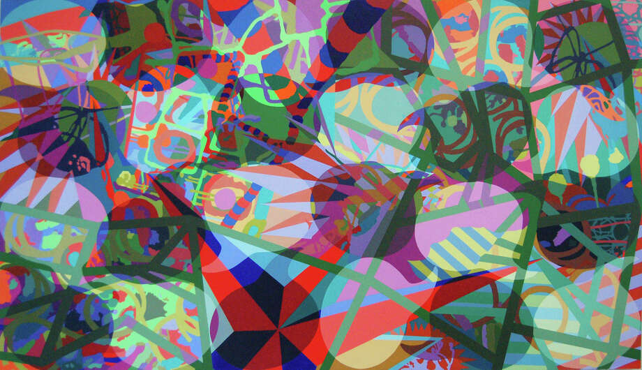 Steve Pearson's   Amalgamation 2010 Acrylic on Paper Mounted on Panel