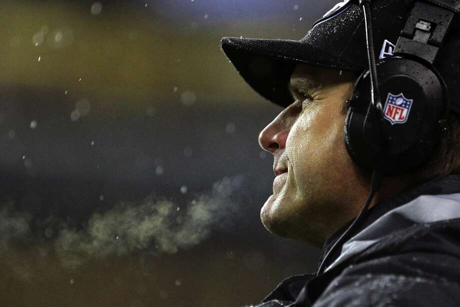 Jim Harbaugh, head coach of the San Francisco 49ers, looks on in disappointment after a score by the Seahawks  during the first half of a game Sunday, Dec. 23, 2012, at CenturyLink Field in Seattle, WA. Seahawks led 28-6 at the half. Photo: JORDAN STEAD, Special To The Chronicle / ONLINE_YES