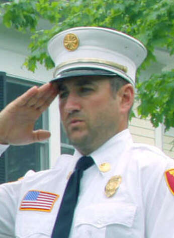 Former Bridgewater Volunteer Fire Department Chief Justin Planz in the May 2012 file photo. Photo: Walter Kidd / The News-Times Freelance