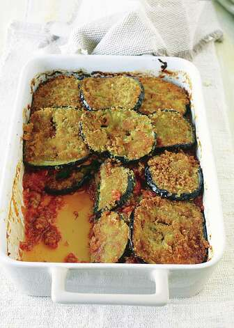 Italian Baked Eggplant with Seitan is one of the recipes in Martha Stewart's new vegetarian-based cookbook. Photo: Martha Stewart Living / © John Kernick 2010