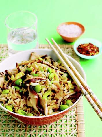 "Shiitake Fried Rice is one of the vegetarian recipes found in ""Meatless."" Photo: Martha Stewart Living"