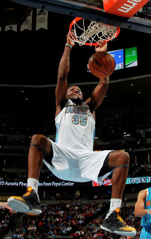 Western Conference Slam Dunk participantKenneth Faried's nickname is Manimal and he also played center at Morehead State University, where he was named Ohio Valley Conference Player of the Year and an All-American in 2010. Photo: David Zalubowski, Associated Press / AP