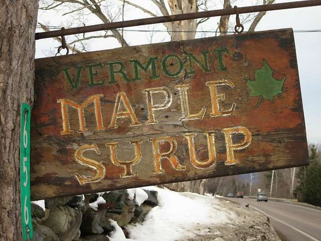 Maple syrup is a Vermont mainstay. This roadside sign is near Smuggler's Notch. Photo: Margo Pfeiff, Special To The Chronicle