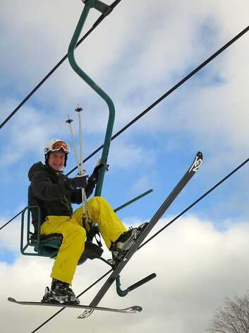 Mad River Glen's single-chair lift is one of only two in the United States. Photo: Margo Pfeiff, Special To The Chronicle