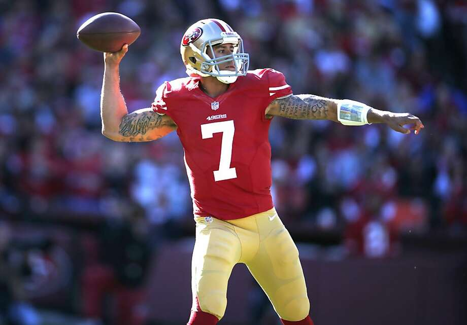 San Francisco 49ers Quarterback Colin Kaepernick (7) during the San Francisco 49ers game against the Arizona Cardinals at Candlestick Park in San Francisco, Calif., on Sunday December 30, 2012. Photo: Stephen Lam, Special To The Chronicle