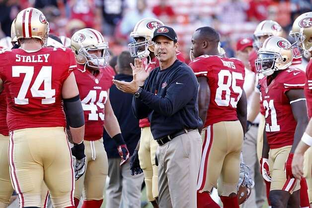 49ers coach Jim Harbaugh during the first quarter of the San Francisco 49ers game against the Seattle Seahawks at Candlestick Park in San Francisco, Calif., on Thursday October 18, 2012. Photo: Brant Ward, The Chronicle