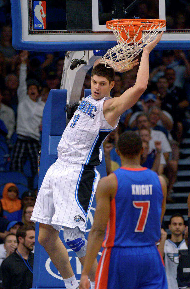 Team Chuck 7th pickNikola Vucevic was the 16th overall pick in the 2011 draft. He played one season at USC before going pro. Photo: Phelan M. Ebenhack, Associated Press / FR121174 AP