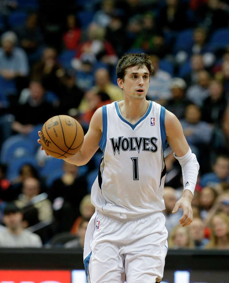 Team Chuck 4th random pickMinnesota Timberwolves' Alexey Shved of Russia is shown in the second half of an NBA basketball game against the New Orleans Saints Saturday, Feb. 2, 2013 in Minneapolis. The Timberwolves won 115-86. (AP Photo/Jim Mone) Photo: Jim Mone, Associated Press / AP